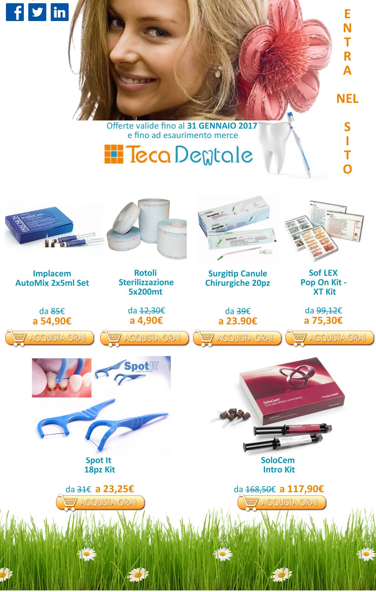 Vieni a scoprire tutte le nostre offerte su TecaDentale.it