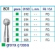 Frese Diamantate Ref.801 ISO 016 FG Grana Grossa 5pz
