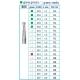 Frese Diamantate Ref.805 ISO 012 1,2mm FG Grana Media 5pz