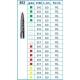 Frese Diamantate Ref.862 ISO 014 8,0mm FG Grana Media 5pz
