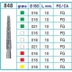 Frese Diamantate Ref.848 ISO 016 10mm FG Grana Media 5pz