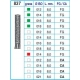 Frese Diamantate Ref.837 ISO 012 8,0mm CA Grana Media 5pz