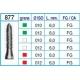 Frese Diamantate Ref.877 ISO 010 6,0mm FG Grana Fine 5pz