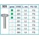 Frese Diamantate Ref.909 035 1,5mm FG Grana Media 5pz