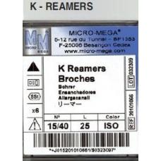 K Reamers 25mm ISO 08 6pz