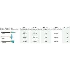Eve Diacomp Diamantati Ref.DC1M ISO 4x10 Grana Media 10pz