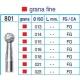 Frese Diamantate Ref.801 ISO 018 FG Grana Fine 5pz