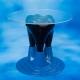 Tavolino Forma Molare Bi Colore Nero Blu 1pz