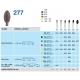Frese Diamantate Ref.379 ISO 023 4,5mm Grana Extra Fine 5pz