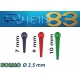 Attacchi RHEIN Pivots Normo 7mm 5pz